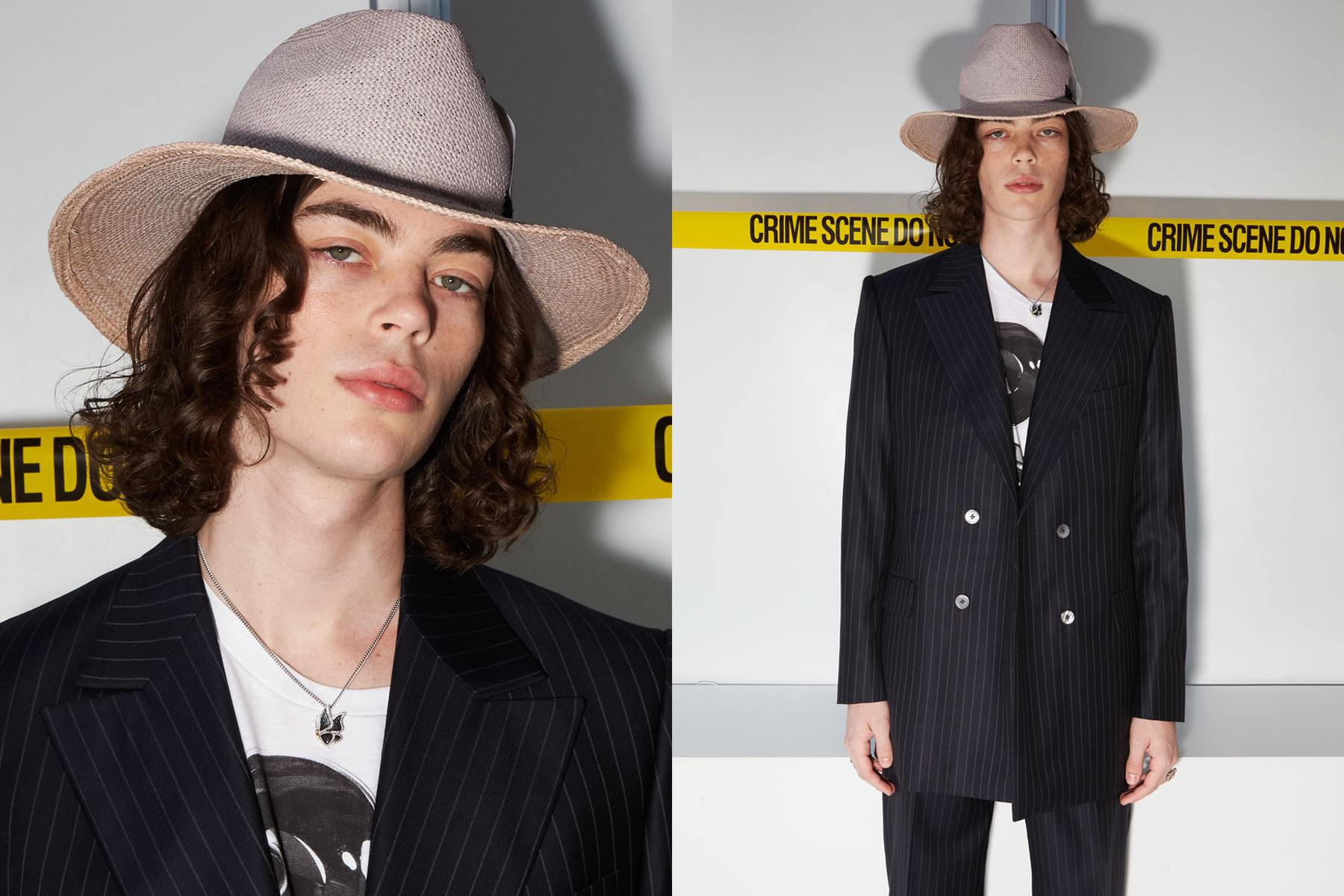 Model Nick Cage photographed backstage at David Hart for Spring 2020. Photography by Alexander Thompson for Ponyboy magazine.