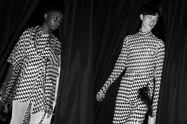 Models photographed backstage at the Private Policy for Spring/Summer 2020 collection. Photography by Alexander Thompson for Ponyboy magazine.