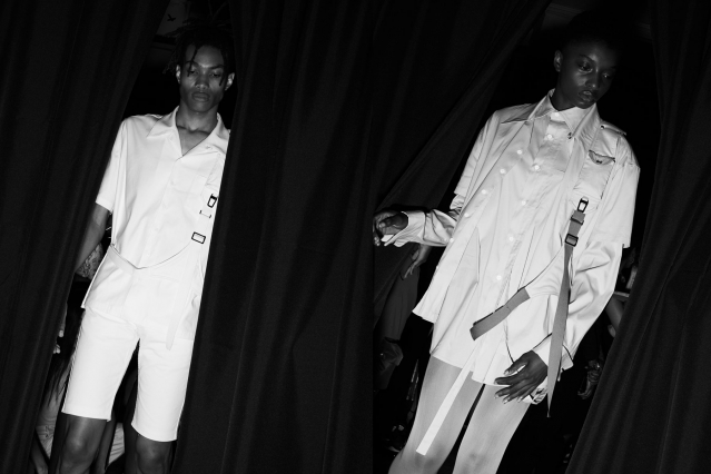 Models snapped backstage at the Private Policy for Spring/Summer 2020 collection. Photography by Alexander Thompson for Ponyboy magazine.