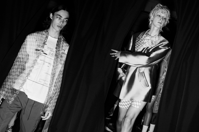 Models snapped backstage at the Private Policy for Spring/Summer 2020 runway show. Photography by Alexander Thompson for Ponyboy magazine.