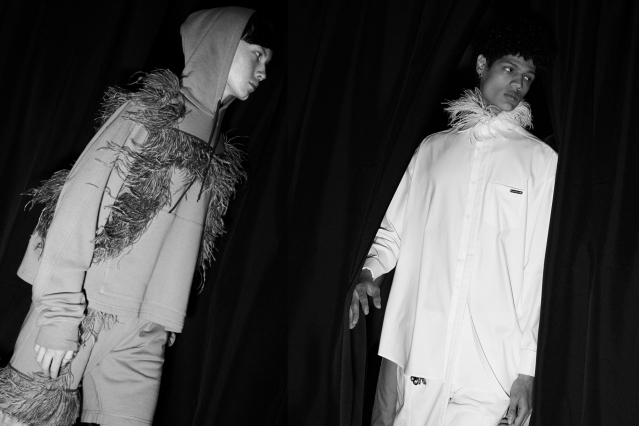 Male models walk backstage at the Private Policy for Spring/Summer 2020 show. Photography by Alexander Thompson for Ponyboy magazine.