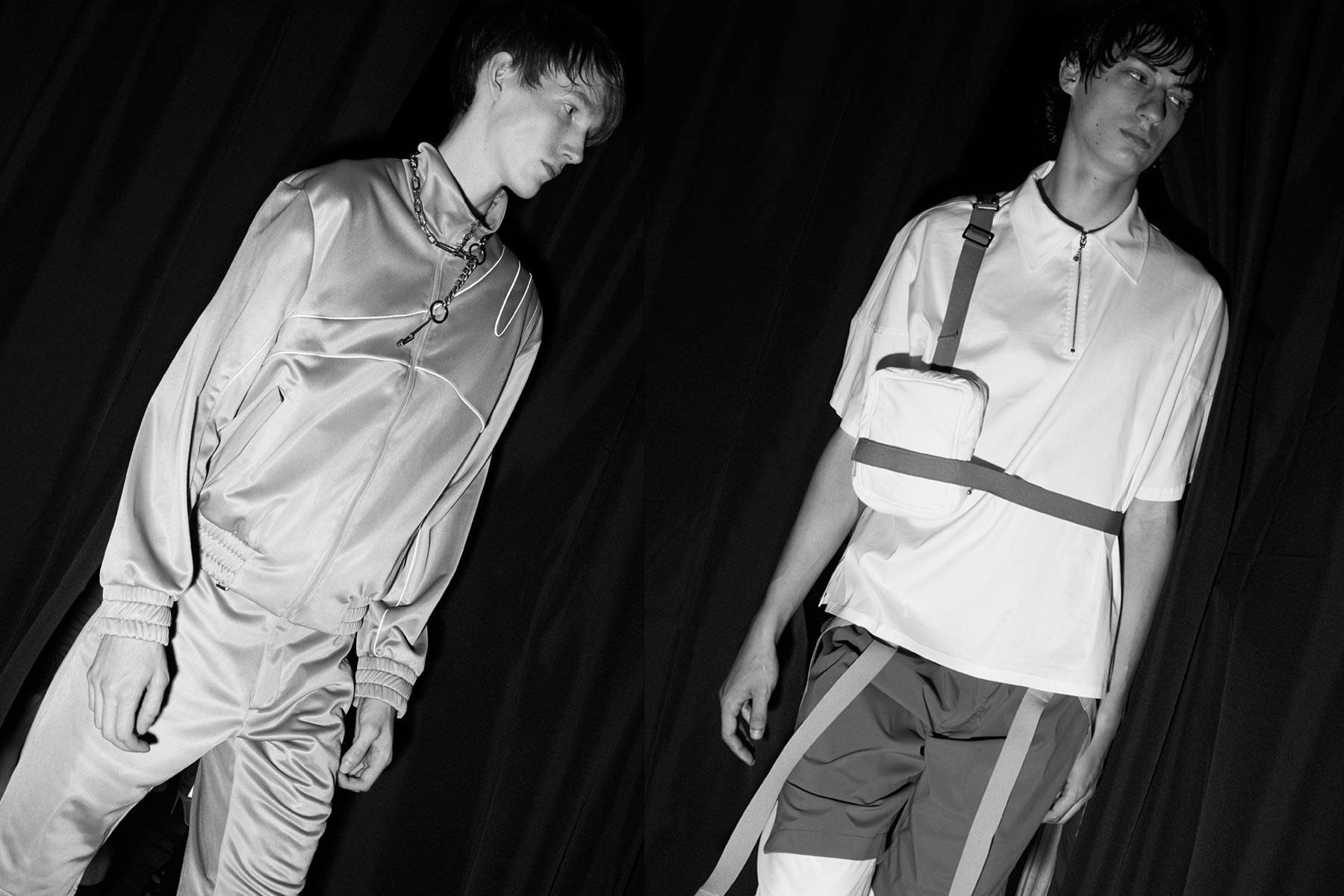 Male models walk backstage at Private Policy for Spring/Summer 2020. Photography by Alexander Thompson for Ponyboy magazine.