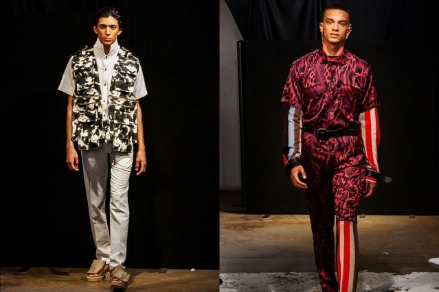 Male models photographed on the runway for Tokyo James menswear collection shown during London Fashion Week Men for Spring/Summer 2020. Ponyboy magazine.