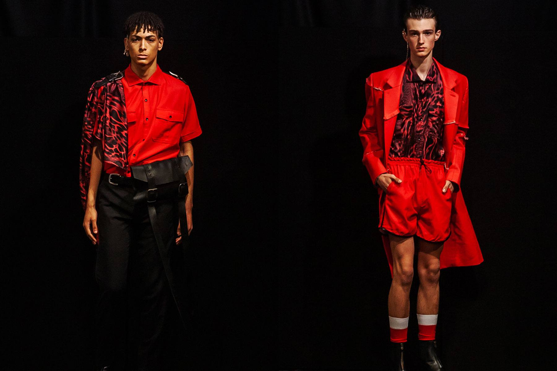 Male models on the runway at Tokyo James menswear collection shown during London Fashion Week Men for Spring/Summer 2020. Ponyboy magazine.