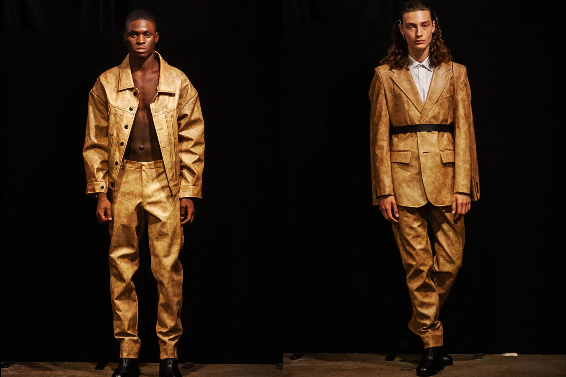 The latest collection from Tokyo James S/S 2020 menswear show at London Fashion Week Men. Ponyboy magazine.