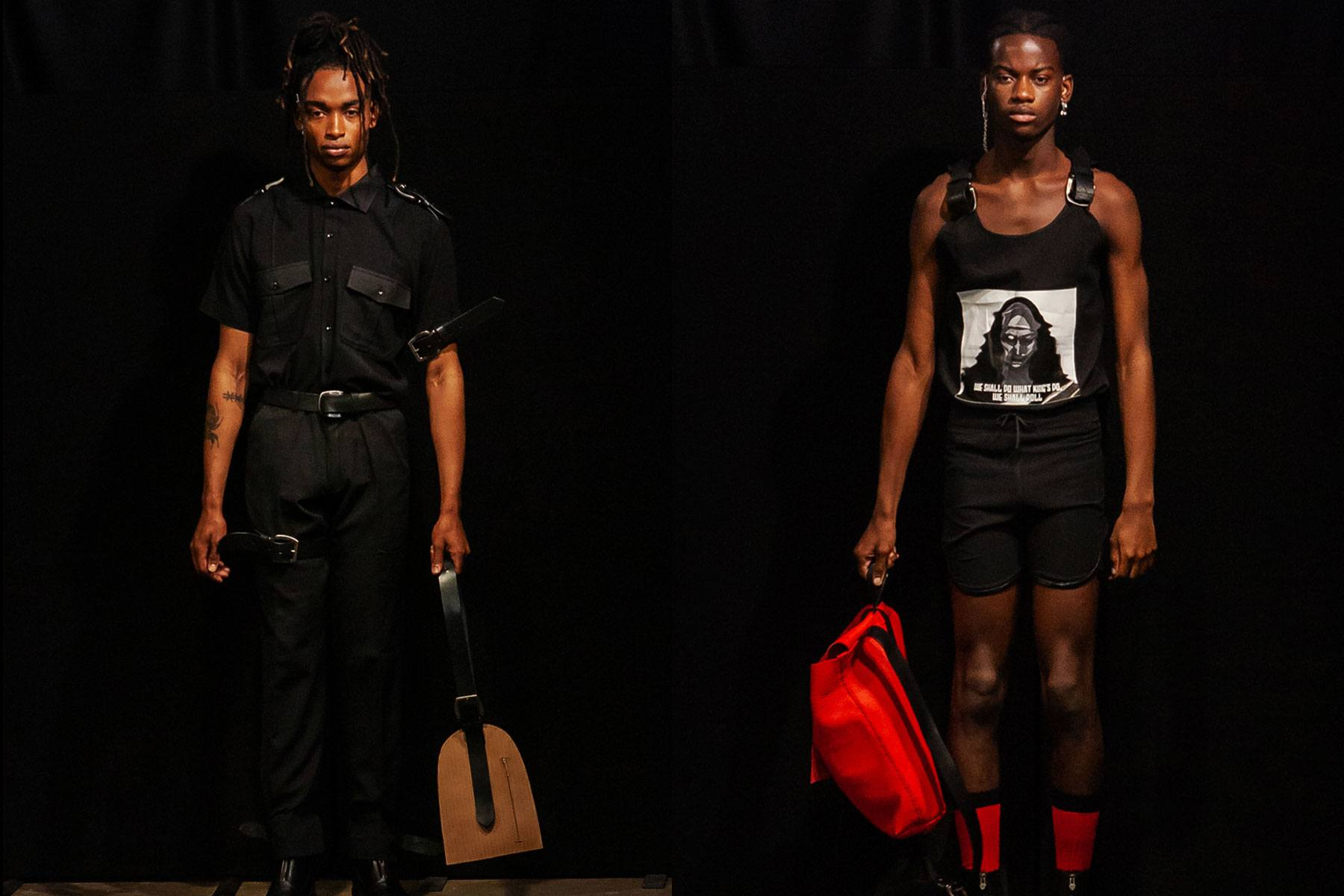 Male models snapped on the runway for Tokyo James menswear collection shown during London Fashion Week Men for Spring/Summer 2020. Ponyboy magazine.
