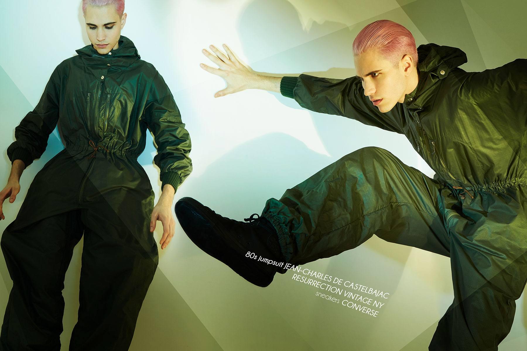 Model Austin Kairis photographed by Alexander Thompson for Ponyboy magazine.