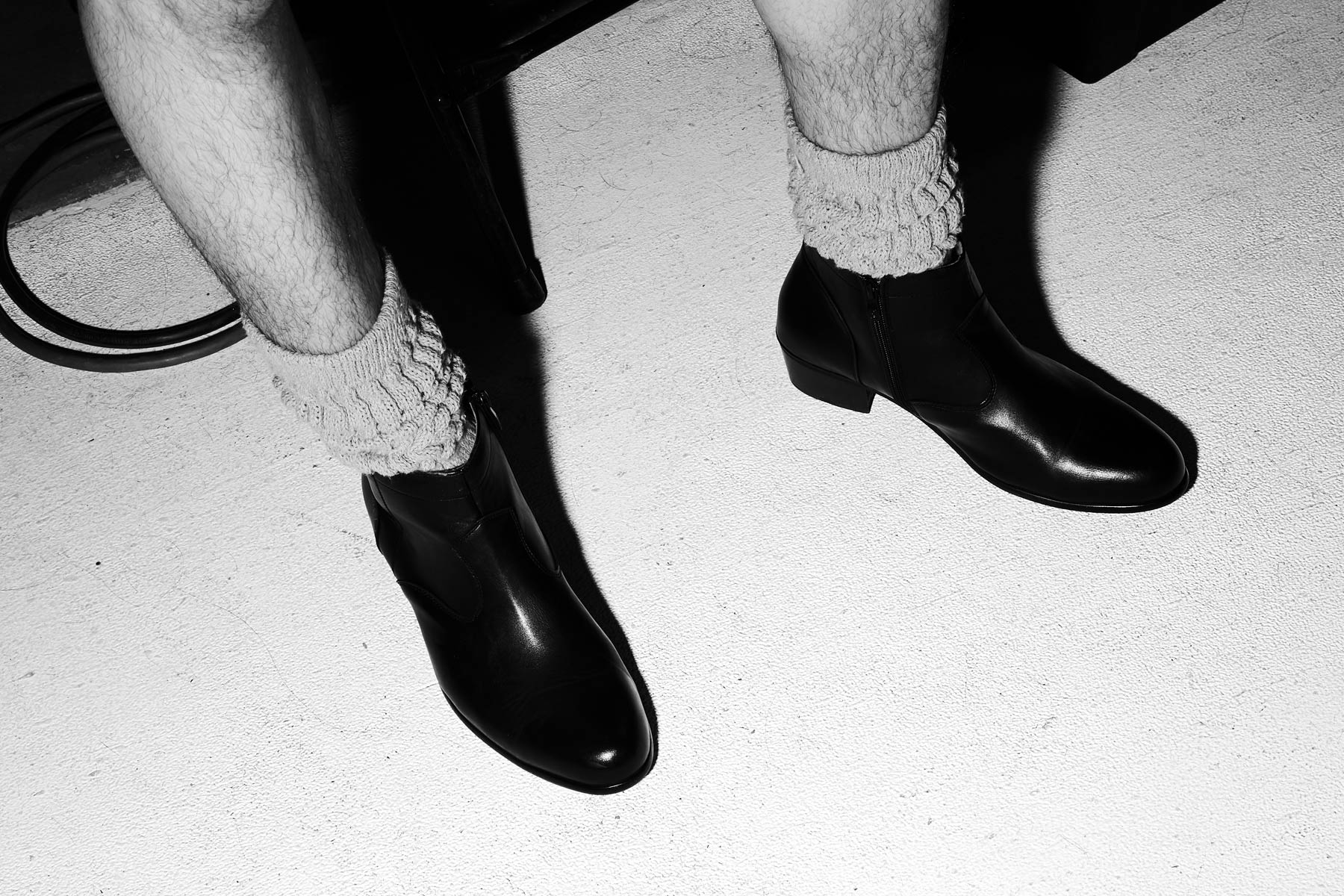Ankle boots snapped backstage at the Willy Chavarria S/S 2020 collection in New York. Photography by Alexander Thompson for Ponyboy magazine.
