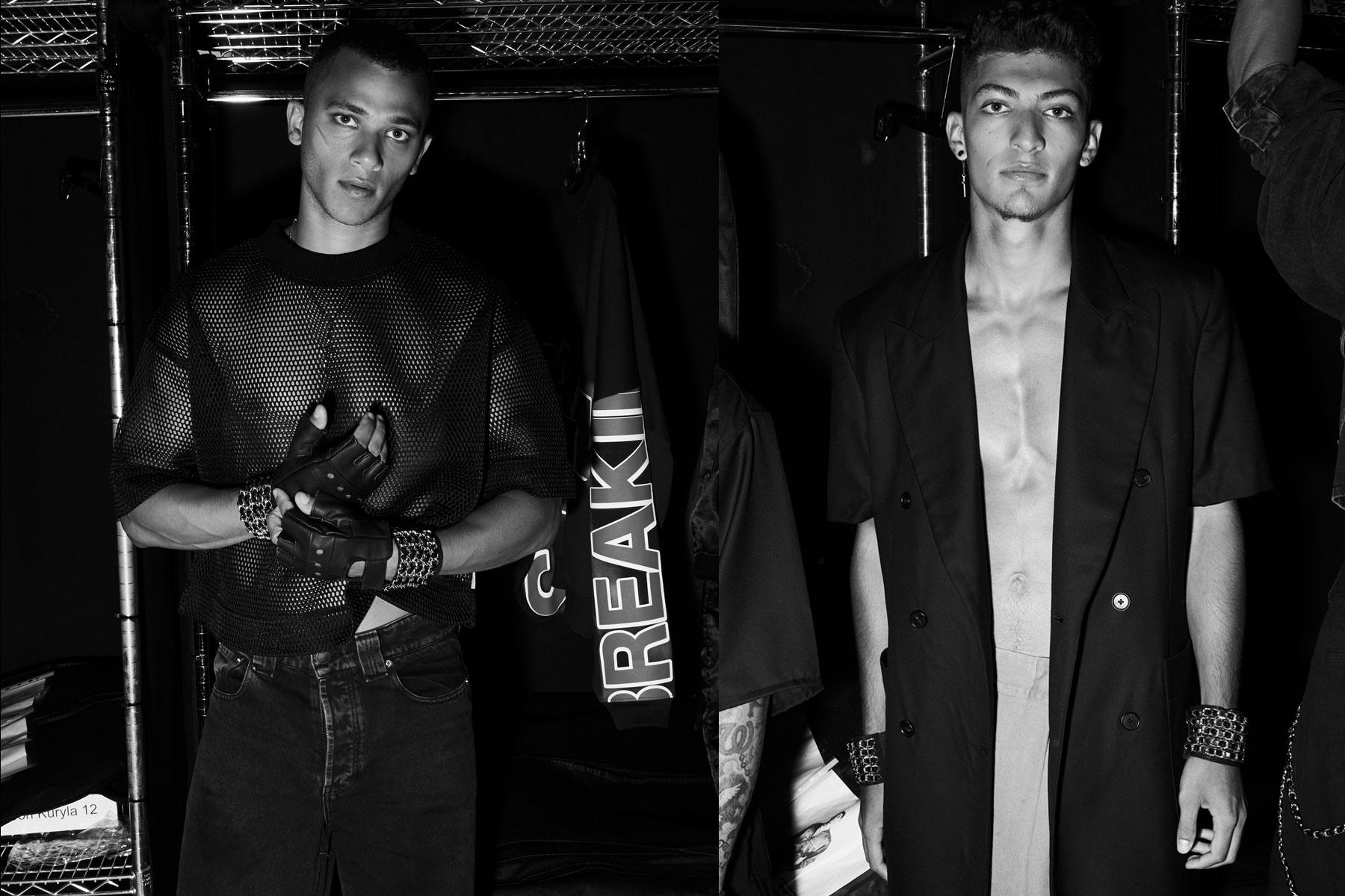 Looks snapped backstage at the Willy Chavarria S/S 2020 collection in New York. Photography by Alexander Thompson for Ponyboy magazine.