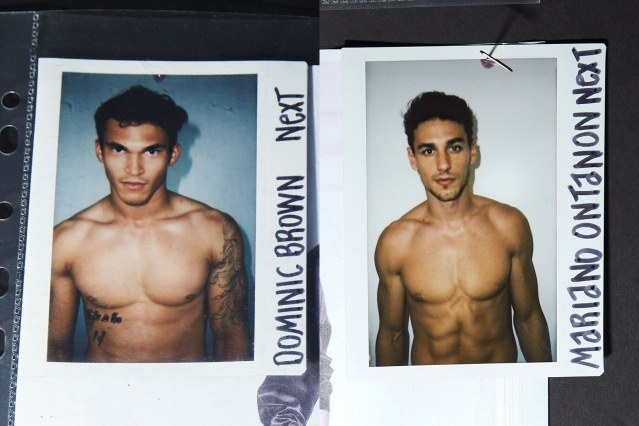 Polaroids of male models from the Willy Chavarria Spring/Summer 2020 menswear show. Ponyboy magazine.