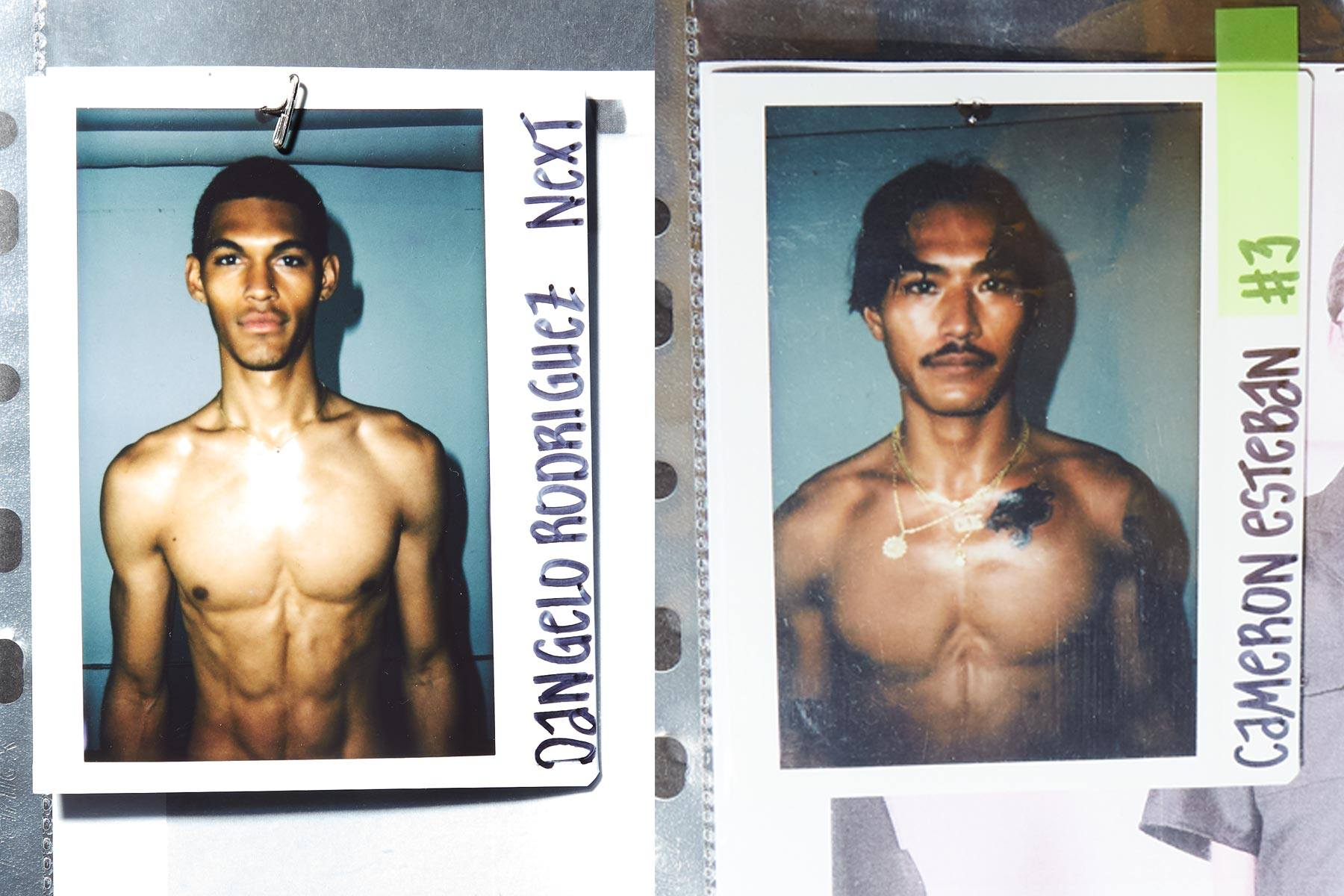 Polaroids from Willy Chavarria for Spring/Summer 2020. Ponyboy magazine.