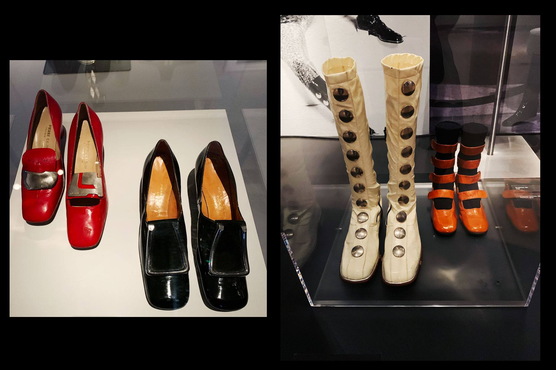 Vintage Pierre Cardin footwear at the Brooklyn Museum. Photographed by Alexander Thompson for Ponyboy magazine.