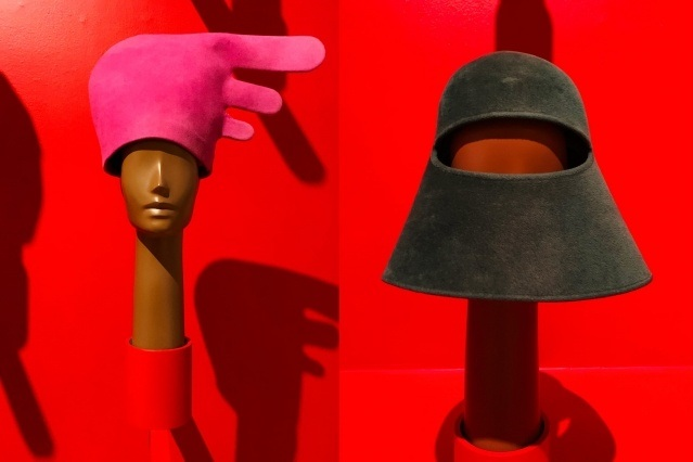 Vintage Pierre Cardin hats at the Brooklyn Museum. Photographed by Alexander Thompson for Ponyboy magazine.