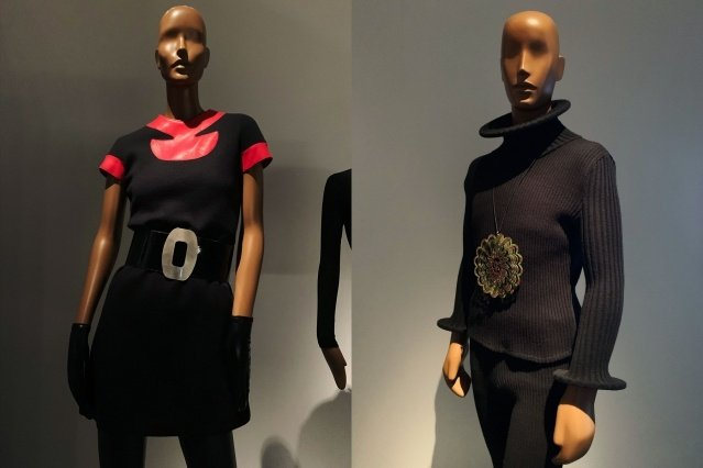 Vintage Pierre Cardin fashion at the Brooklyn Museum. Photographed by Alexander Thompson for Ponyboy magazine.