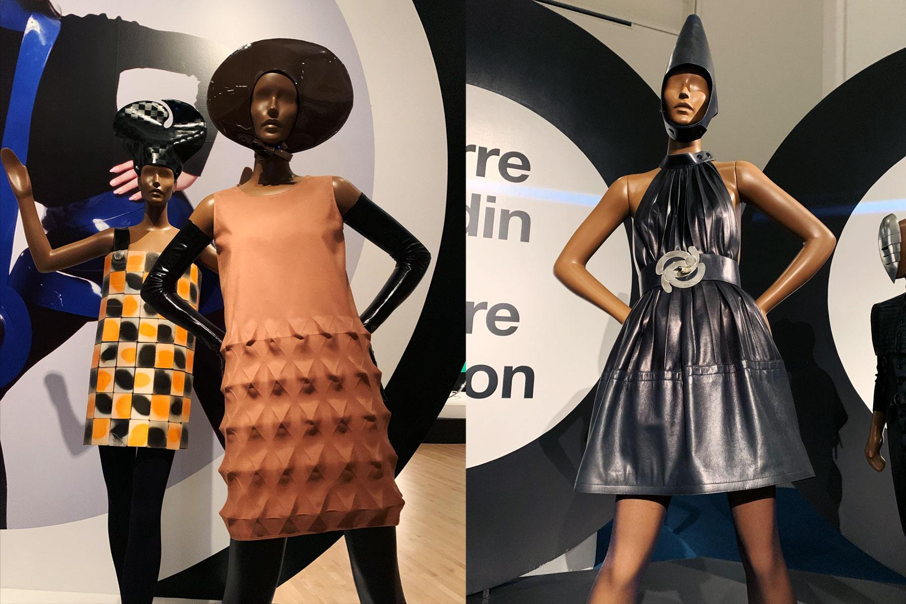 Vintage Pierre Cardin fashions at the Brooklyn Museum. Photographed by Alexander Thompson for Ponyboy magazine.
