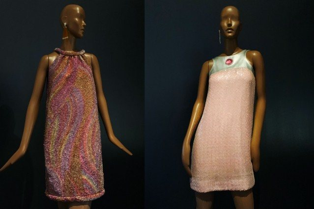 Vintage Pierre Cardin evening dresses at the Brooklyn Museum. Photographed by Alexander Thompson for Ponyboy magazine.