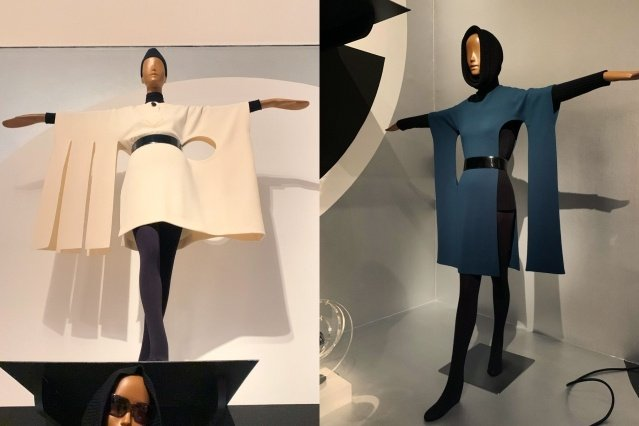 Future Fashion: Over-the-top Pierre Cardin fashion at the Brooklyn Museum. Photographed by Alexander Thompson for Ponyboy magazine.