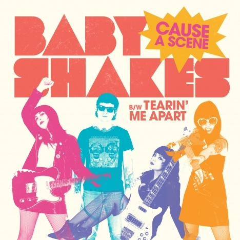 """EP artwork for Baby Shakes """"Cause A Scene""""."""