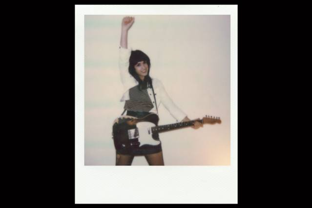 Polaroid of lead vocalist Mary from Babyshakes band from New York City. Photographed by Alexander Thompson.
