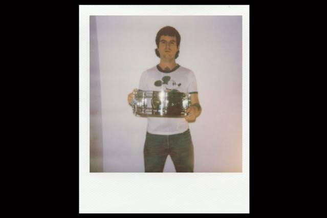 Polaroid of drummer Ryan from Babyshakes band from New York City. Photographed by Alexander Thompson.