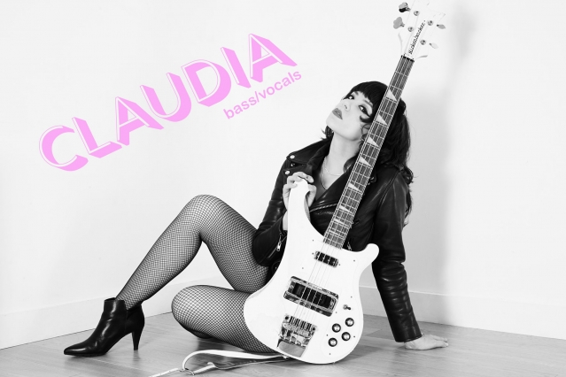 Bass player Claudia from Babyshakes band from New York City. Photographed by Alexander Thompson.