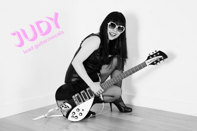 Lead guitarist Judy from Babyshakes. Photographed by Alexander Thompson.