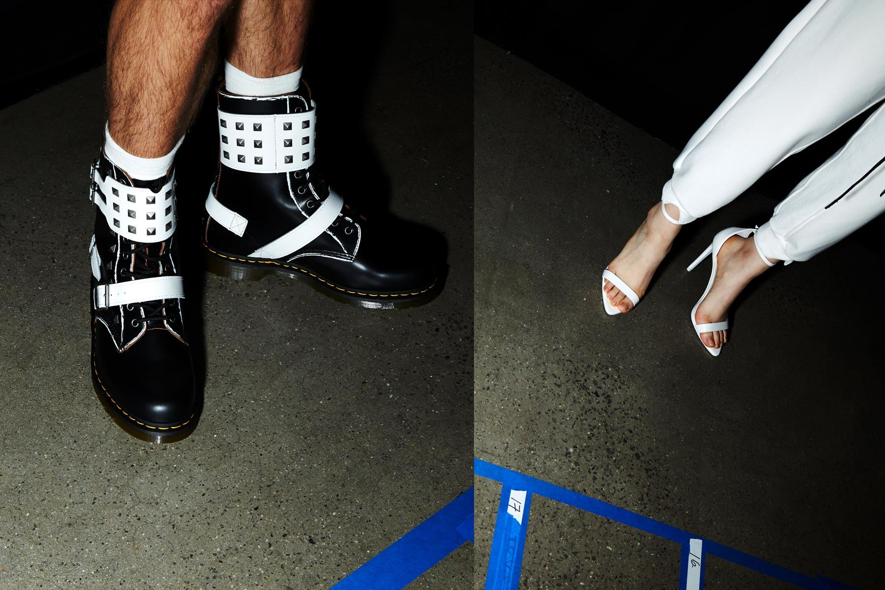 Shoes from Dirty Pineapple S/S 2020 runway show in New York City. Ponyboy magazine.
