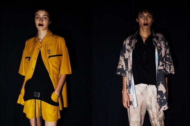 Womenswear/menswear backstage at Dirty Pineapple S/S 2020 in New York City. Photography by Alexander Thompson for Ponyboy magazine.