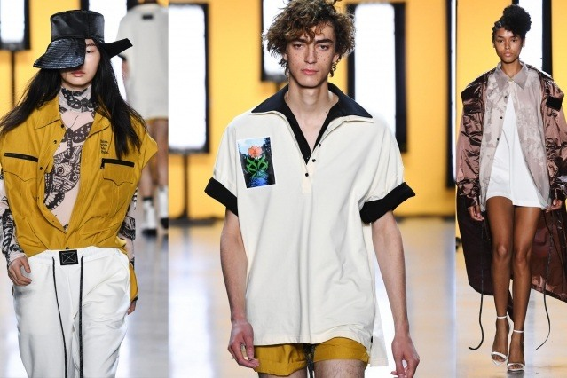Runway images of Dirty Pineapple S/S 2020 collection. Ponyboy magazine.