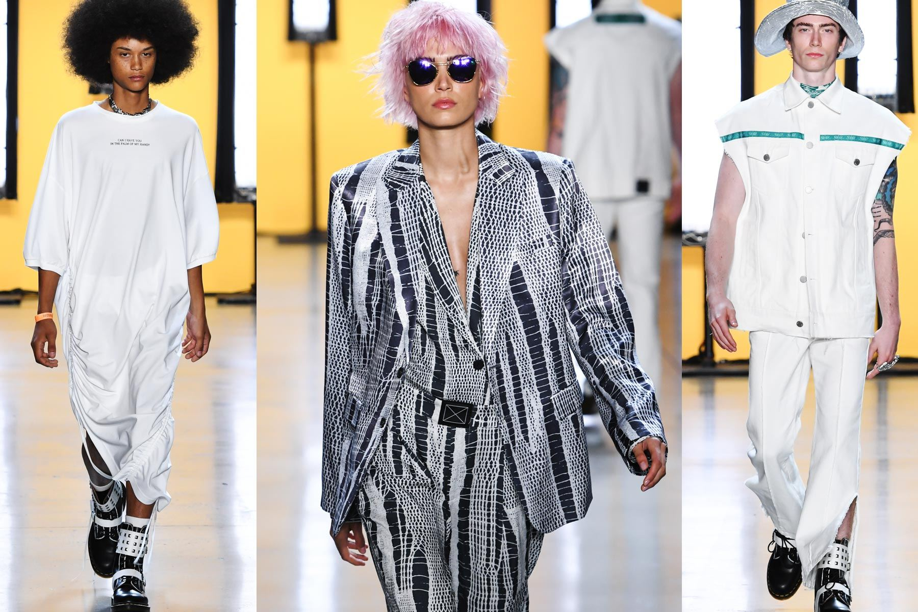 Runway images for Dirty Pineapple for S/S 2020. Ponyboy magazine.