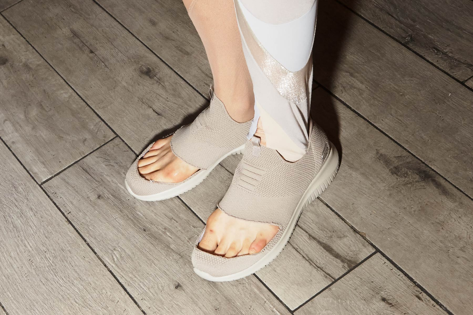 Shoes designed by threeASFOUR for S/S 2020. Photographed backstage by Alexander Thompson for Ponyboy magazine NY.