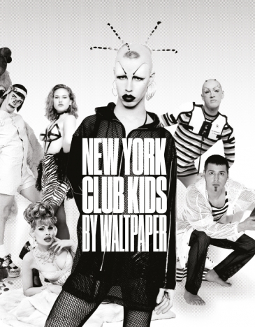 Book cover for New York Club Kids by Waltpaper. Photography by Michael Fazakerly. Courtesy of New York Club Kids by Waltpaper. Ponboy magazine.