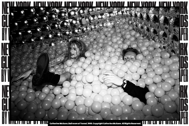 Ball room at Tunnel, 1993. Photograph by Catherine McGann. Courtesy of New York Club Kids by Waltpaper. Ponyboy magazine.