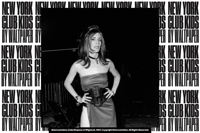 Linda Simpson photographed at Wigstock in 1993. Photograph by Brian Lantelme, courtesy of New York Club Kids by Waltpaper. Ponyboy magazine.