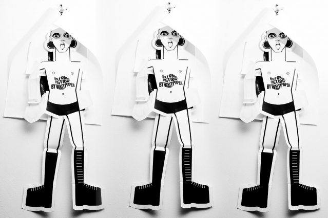 Waltpaper cutouts photographed at the studio of Walt Cassidy. Photographed by Alexander Thompson for Ponyboy magazine.
