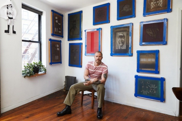 New York City artist Walt Cassidy photographed at his studio for Ponyboy by Alexander Thompson.
