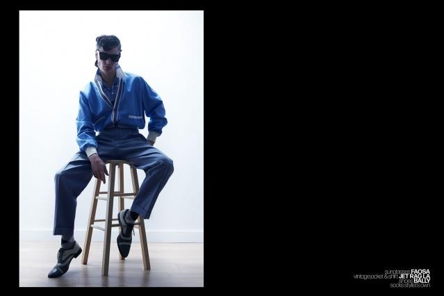 Model Bart-Jan Mulder wears vintage menswear for Ponyboy magazine. Photography by Alexander Thompson.