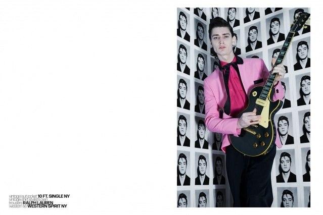 Male model Bart-Jan Mulder photographed by Alexander Thompson for Ponyboy magazine in vintage menswear.