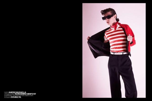 Male model Bart-Jan Mulder photographed for Ponyboy magazine by Alexander Thompson.