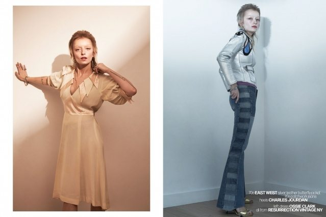 Artist Sophie Thunder-Murphy photographed in vintage Ossie Clark & East West by Alexander Thompson for Ponyboy magazine.