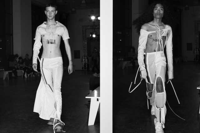 Male models snapped walking the runway at NIHL for F/W 2020. Photographed by Alexander Thompson in New York. Ponyboy magazine.