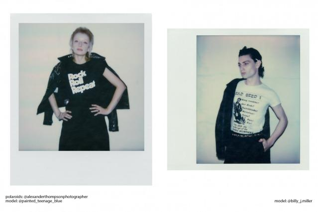 Polaroids in Rock Roll Repeat designs by Alexander Thompson.