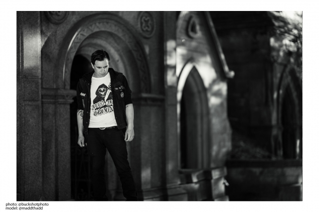 Thaddeus Perkins photographed by Stacy Bucks for Rock Roll Repeat.