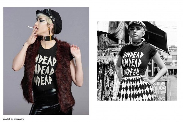 Astrid photographed in Rock Roll Repeat.