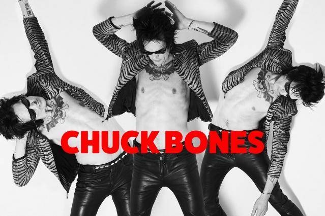 Trash Bags singer Chuck Bones photographed by Alexander Thompson.