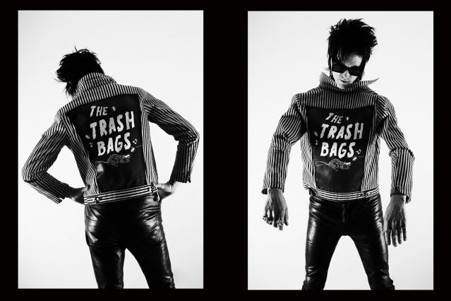Chuck Bones from the Trash Bags band photographed in New York City by Alexander Thompson.