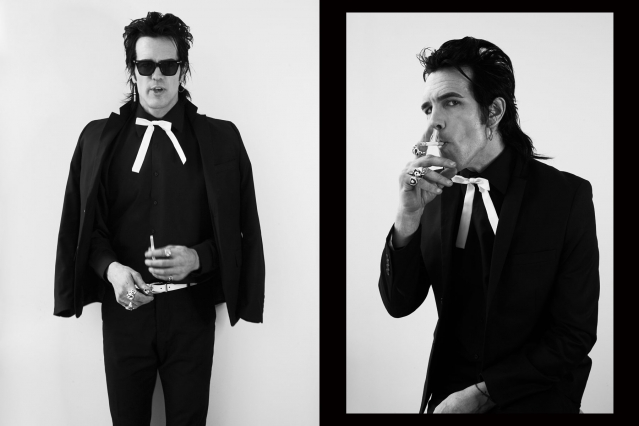 The Trash Bags singer Chuck Bones photographed by Alexander Thompson for Ponyboy magazine.