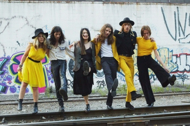 GIRL SKIN band photographed in Brooklyn, NY. Photography by Alexander Thompson for Ponyboy magazine.