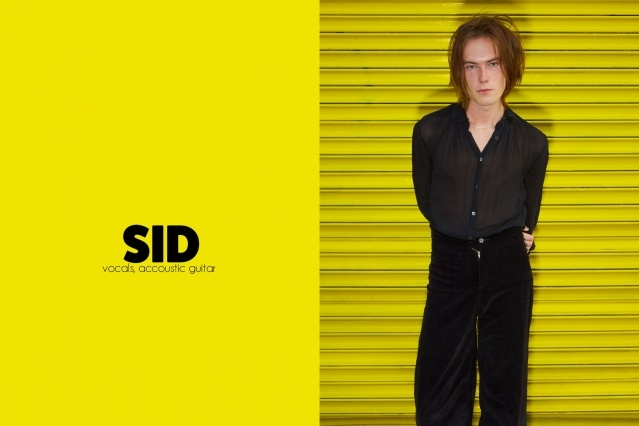 Frontman Sid Simons from GIRL SKIN. Photography by Alexander Thompson for Ponyboy magazine.