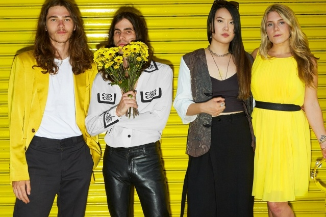 Band members from GIRL SKIN. Photographed by Alexander Thompson for Ponyboy magazine.